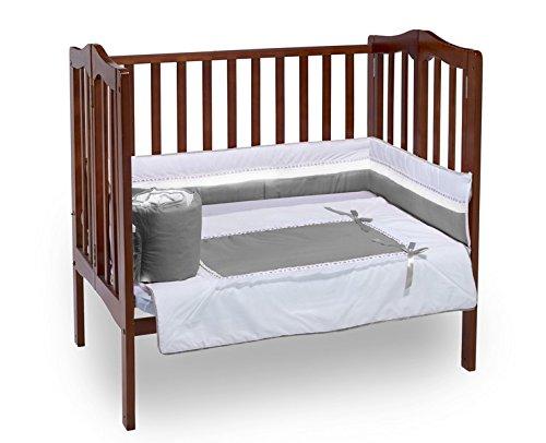 Baby Doll Royal Port-a-Crib Bedding Set, Grey