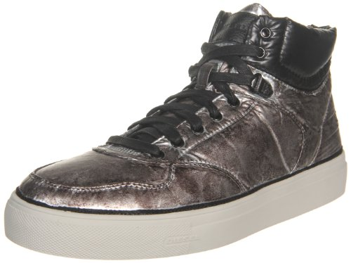 Diesel Men's Invasion High Top Sneaker,Silver,13 M US Diesel B007TDJ1II