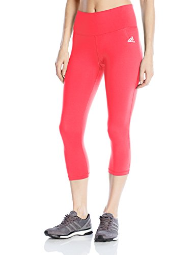 adidas Women's Performer Mid-Rise 3/4 Tights, Small, Black/Print/White/Matte Silver