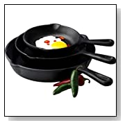 Basic Essentials 3-Piece Fry Pan Set