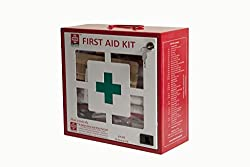 FIRST AID METAL BOX LARGE - EMPTY - WALL MOUNTED