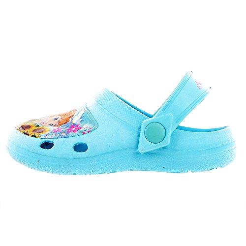 Disney Frozen Fever Aqua Beach Clogs UK 12 Kids