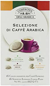 Compagnia Dell'arabica Selection Arabica ESE Pods 7 g (Pack of 16)
