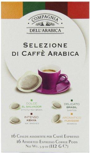 Compagnia Dell'arabica Selection Arabica ESE Pods 7 g (Pack of 16)