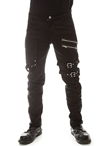 Vixxsin -  Pantaloni  - Uomo Black Small