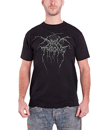 Dark in Trono True Norwegian black Metal con licenza Nue Uomo Nero T-Shirt
