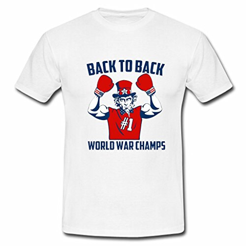 Yolo custom Back to Back World War Champs USA Men's Basic Cotton Tee Fitted Tee Funny T-Shirt Mens Muscle Tee Gym Tee Short Sleeve Crew S White