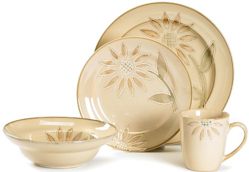 Pfaltzgraff Everyday Daisy Chain 16-Piece Dinnerware Set Service for 4