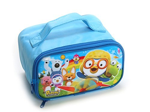 Pororo Stainless Steel Double Lock Bag Lunch (2) (Blue) - 1
