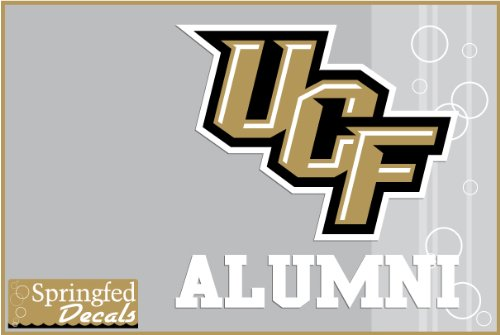 UCF Knights ALUMNI w/ UCF Logo Vinyl Decal Central Florida Car Truck Sticker (Central Florida Knights compare prices)