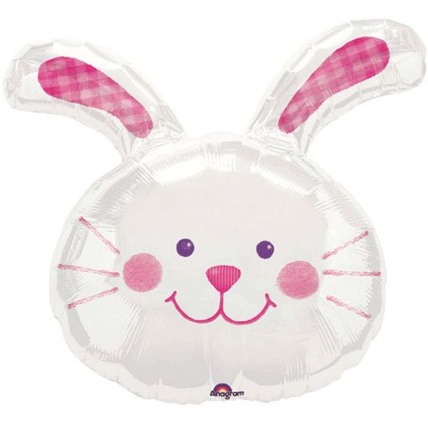 Bunny Hug Head White Mini Shape