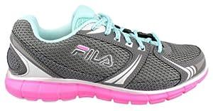 Fila Women's MEMORY DELUXE 5 Gray Running Sneakers 9 M
