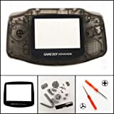 New Full Housing Shell Cover Case Pack for Nintendo Gameboy Advance GBA Repair Part-Clear Black (Color: Clear Green)