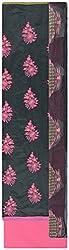 Fakri Garment Women's Cotton Silk Unstitched Dress Material (Black)