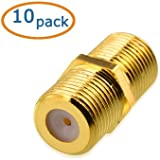 Cable Matters 10-Pack, Gold Plated F-Type Coaxial RG6 Coupler