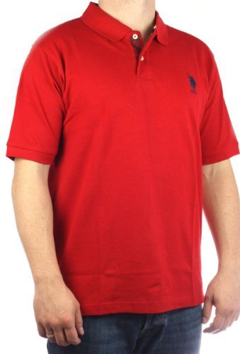 US Polo Assn. Men´s USPA Big Pony polo shirt red-navy limited