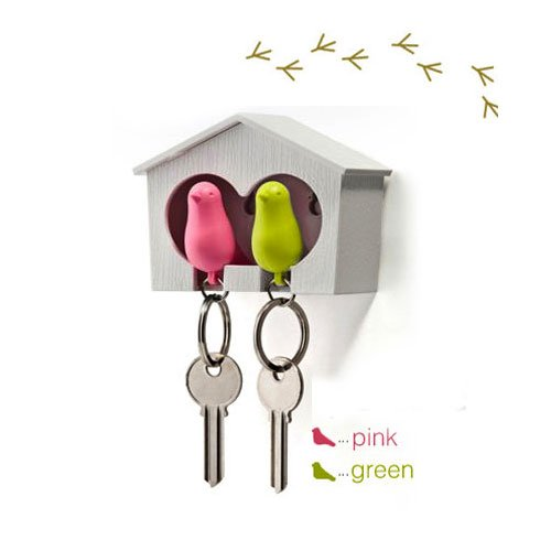 duo-wood-house-sparrow-bird-key-ring-key-holder-whistle-green-pink-bird