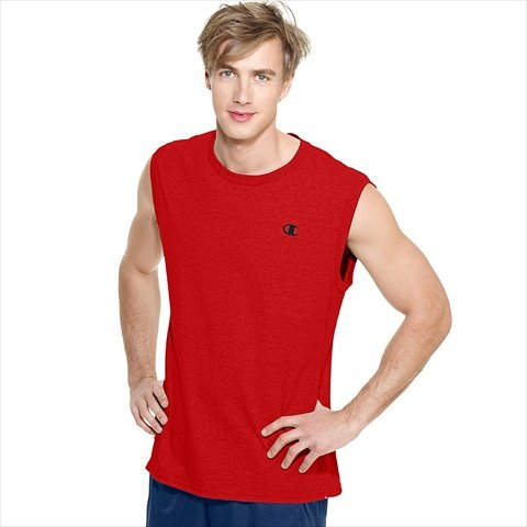 Hanes T2231 Champion Cotton Jersey Mens Muscle Tee Size Large - Crimson Red