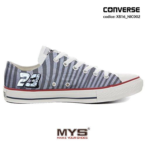 Converse personnalisée MOTO3 Niccolò Antonelli ALL STAR LOW CUSTOMIZED Gray Stripes