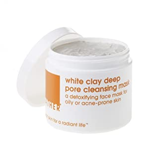 LATHER White Clay Deep Pore Cleansing Mask, 4-Ounce Jar