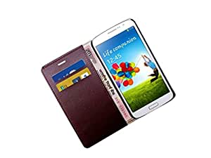 ATV PU Leather Perfect Fitting BROWN Book Case Cover For SAMSUNG GALAXY S6 EDGE PLUS