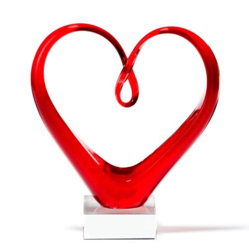 Leonardo 090871 Skulptur Heart, rot thumbnail