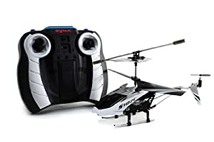 Hot Sale 3CH 3 Channel Remote Control RC Helicopter 3D Full Function with GYRO and HD Camera SPY S107C Silver and Black