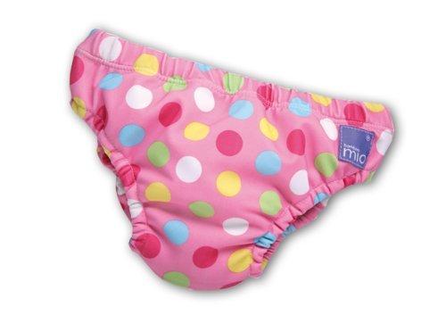Bambino Mio Swim Nappy- Pink Spot-Medium front-386771