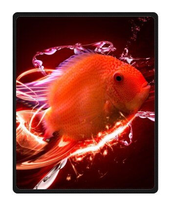 """Personalized Funny Electric Fish Fleece Blanket Throws 40"""" X 50"""" (Small)"""