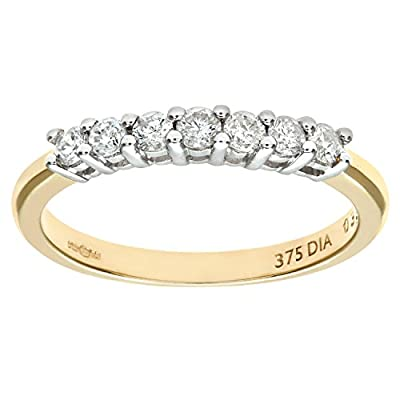 Ariel 9ct Third Carat Diamond Claw Set Eternity Ring