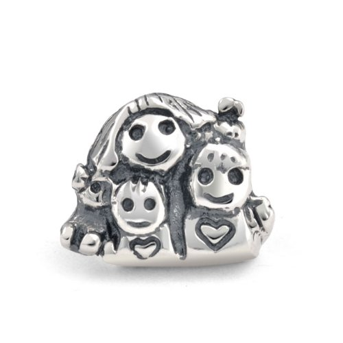 Bling Jewelry Silver Mother Children Happy Family Charm Bead Fits Pandora