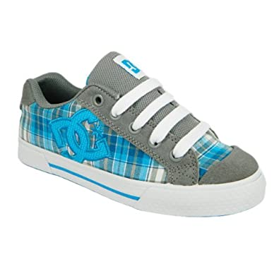 Dc Shoes Chelsea Womens Suede Leather Trainers (8 UK, Grey