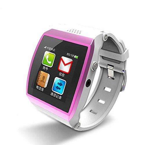 CIYOYO 「 M7 スマートウォッチ」 SIMフリー 着信ブレス スマートウォッチ Bluetooth搭載 iPhone  Androidスマートフォン対応 (ピンク)