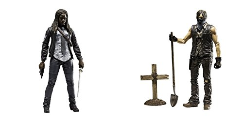 """Action Figures The Walking Dead TV Series 9 Michonne & Daryl Dixon 6"""" Hero Series Toys, 2 Pack"""