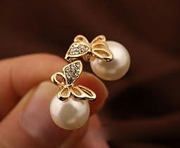 Buyinhouse Butterfly Ear Stud For Women Ladies Girls