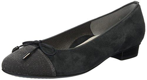 araBari - Ballerine Donna , Grigio (Grau (lava,Crow 29)), 41 EU