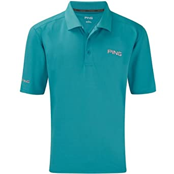 2014 Ping Collection Eagle Tour Golf Polo Shirt Dark Cyan Small