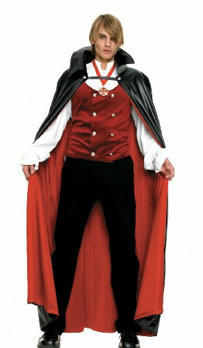 Halloween Costumes: Men's Vampire Costume - 83258(BLACK/RED,X-LARGE)