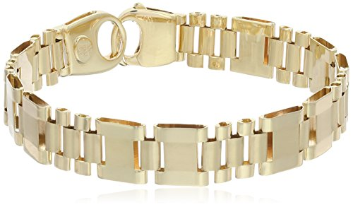 Mens-14k-Yellow-Gold-Mens-Fancy-Italian-Bracelet-85