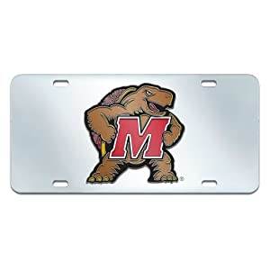 Buy FANMATS NCAA University of Maryland Terrapins Plastic License Plate (Inlaid) by Fanmats