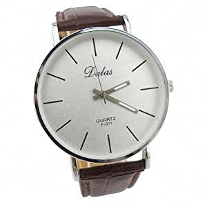 Youyoupifa Best Birthday Gift Fashion PU Leather Strap Quartz Wrist Watch