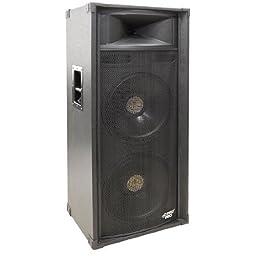 Pyle-Pro PADH21580 1400 Watt Dual 15\'\' 3-Way Stage Speaker Cabinet