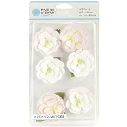 Martha Stewart Crafts Dimensional Stickers, Pink Crepe Flowers