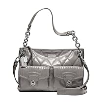Coach Poppy Hippie Large Crossbody Handbag 18678 Grey
