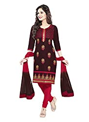 Salwar House Multicolor Unstitched Cotton Embroidery Dress Material with Dupatta
