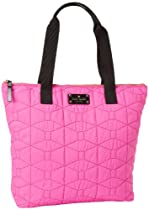 Hot Sale Kate Spade New York Signature Spade Quilted-Bon  Satchel,Vivid Snapdragon,One Size