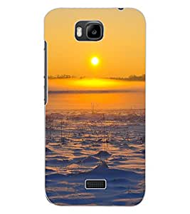 ColourCraft Lovely Sunset Design Back Case Cover for HUAWEI HONOR BEE