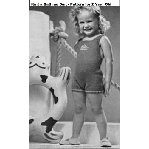 Image: Knit a Bathing Suit Pattern - Knitted Bathing Suit Pattern for 2 Year ...