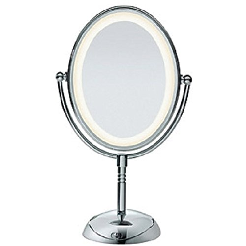Conair Reflections LED Lighted Collection Mirror, Polished Chrome Finish (Conair Lighted Mirror Bulbs compare prices)