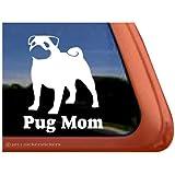 Pug Mom Vinyl Window Decal Dog Sticker